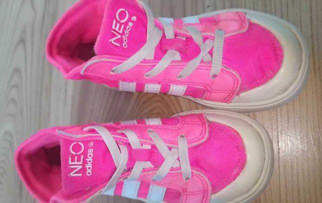 Buty adidas neon r.25 wkł.15 cm