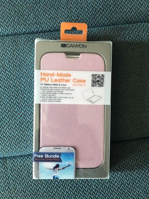 Etui z klapką dla Samsung Galaxy Note 2 N7100 Różowe Jelenia Góra - image 1