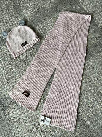Набор шапка с шафом UGG оригинал