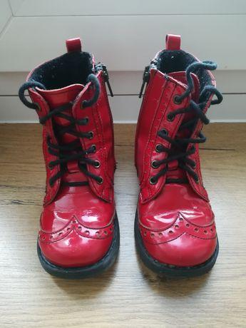 Buty emel czerwone skórzane 24