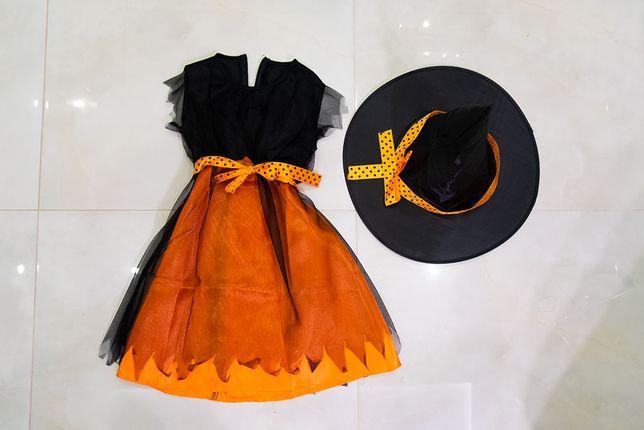 Kostium Halloween, wiedźma, czarownica 110