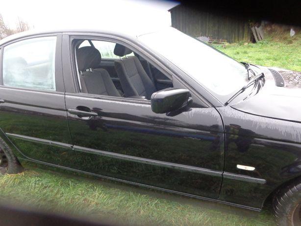 BMW E46 kolor schwarz II drzwi lewe i prawe przednie wszystkie częśc