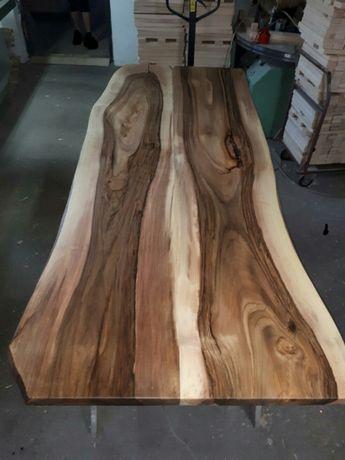 Drzewo orzech włoski schody blaty drewniane kuchnia łazienka
