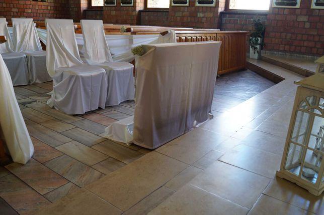 Sprzedam. Dekoracja kościoła ślub wesele satyna