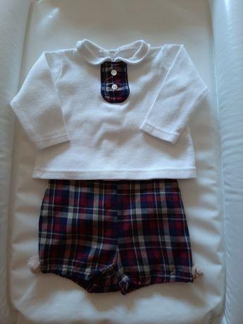 Conjunto calções e camisola