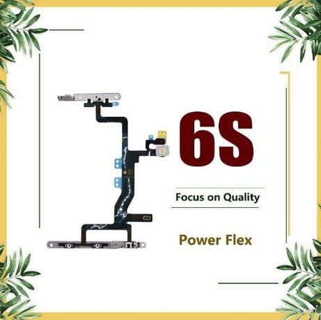 Flex botão power + Volume + Flash com suportes em chapa para Iphone 6S