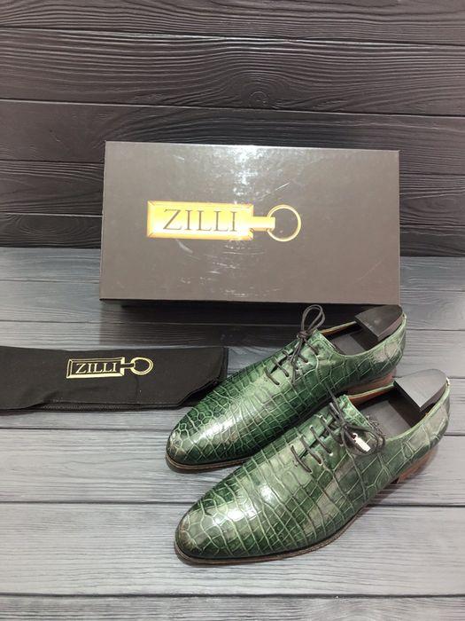 Оксфорды Zilli из цельного куска кожи крокодила wholecut Львов - изображение 1