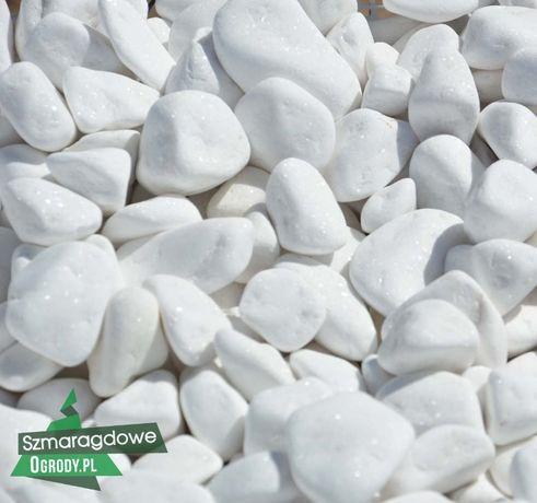 Otoczak śnieżno - biały Thassos 4-8cm TRNASPORT HDS kamień