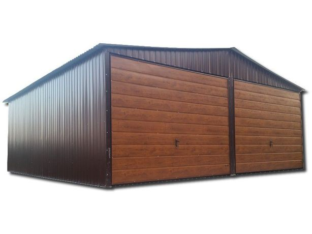 SOLIDNY garaż blaszany 6x6 schowek gospodarczy blaszak garaże blaszane