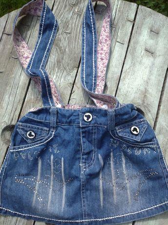 Спідничка- сарафанчик юбка сарафан джинсовий