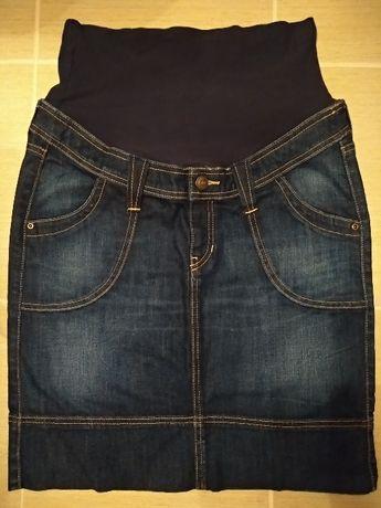 Spódnica ciążowa jeansowa H&M