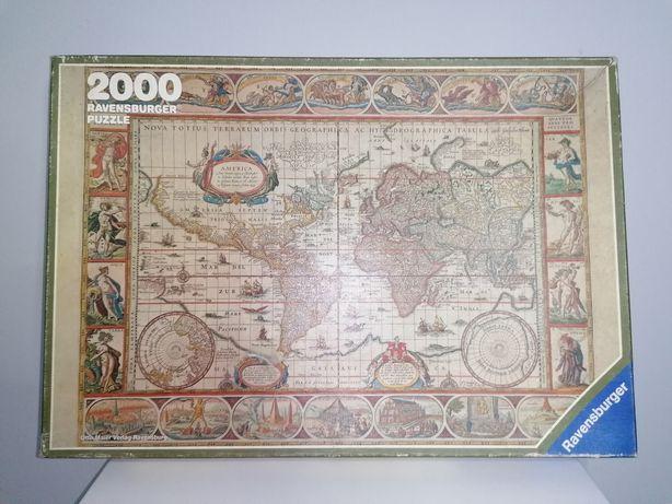 Puzzle Mapa Mundo de Ravensburger de 1650 Quebra-cabeças (2000 peças)