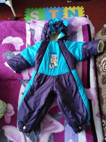 Детский зимний комбинезон 0-2лет.