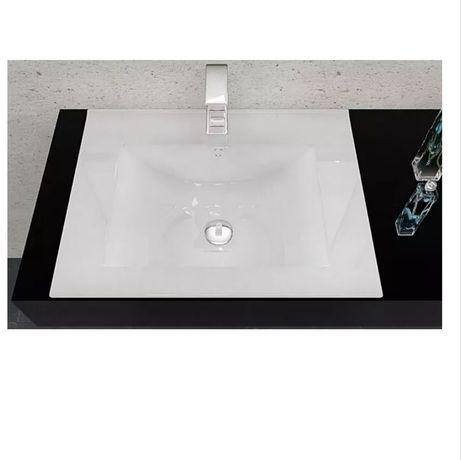 Umywalka Rea Dafne z kranem wodospad 61x46