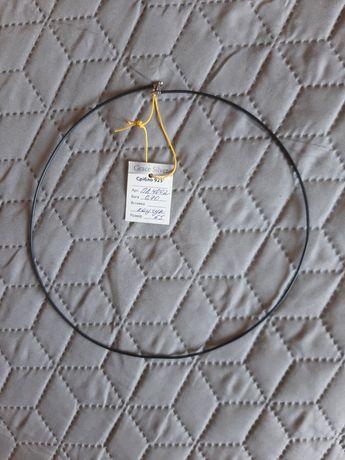 Каучуковый шнурок 60 см с серебряной застёжкой новый