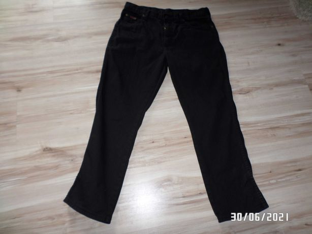 spodnie męskie Wrangler-34-L-czarne-pas ok 86cm,