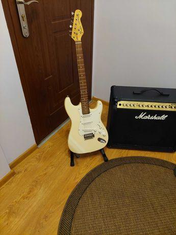 Gitara Elektryczna Fender Stratocaster+wzmacniacz Marshall VS100watt