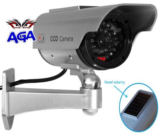 Atrapa Kamery Solar Migająca Diada Z Akumalarem