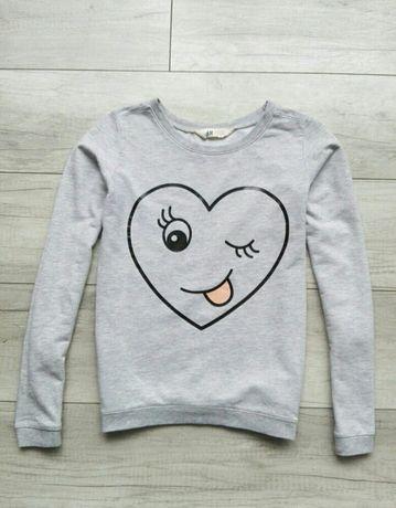 H&M bluza serce rozm.158-164