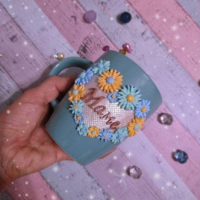 Чашка маме из полимерной глины Киев - изображение 1
