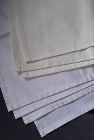 Biała Serwetka Bawełniana 50x50 Bankietówka