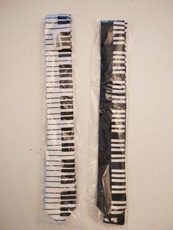 Krawat muzyka, klawiatura pianino. Muzyczny prezent cena za 1 szt.