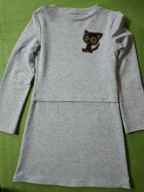 Туніка плаття з котиком 116