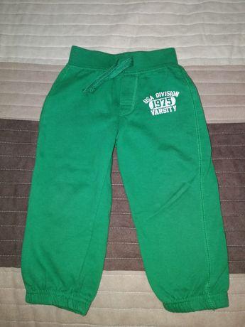 Spodnie dresowe zielone rozm. 90 cm