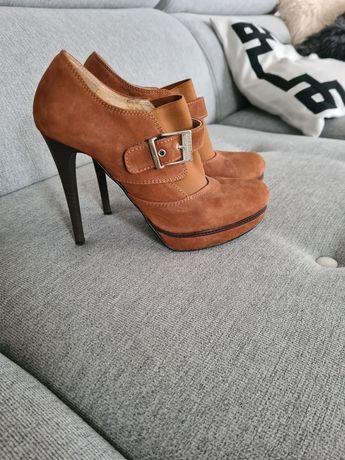 Buty karmelowo brazowe 36 piękne