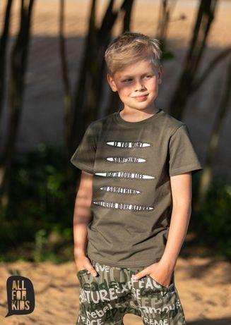 All for Kids t-shirt biały z napisami