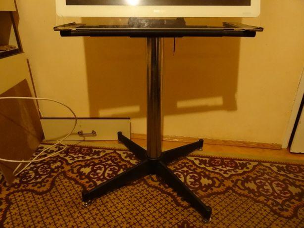 stojak, stolik, pod telewizor, noga niklowana, srebrna, kwietnik