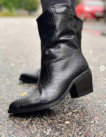 Сапоги ботинки казаки зима зимние теплые на меху