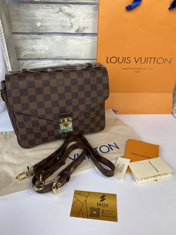 Torebka damska Louis Vuitton Metis Damier Ebene Premium w pudełku LV