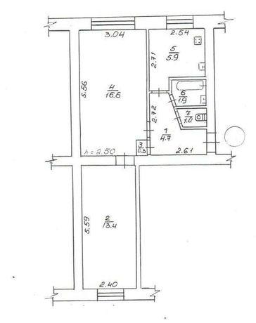 продаю 2-кімнатну квартиру на Браїлках