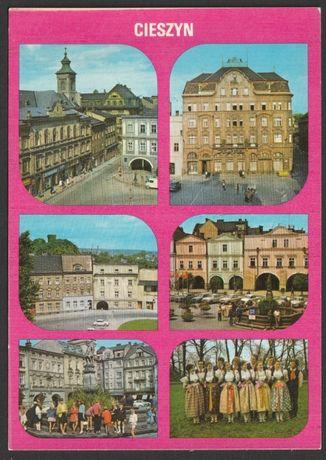 pocztówka - Cieszyn 1982 - mozaika 6 widoków