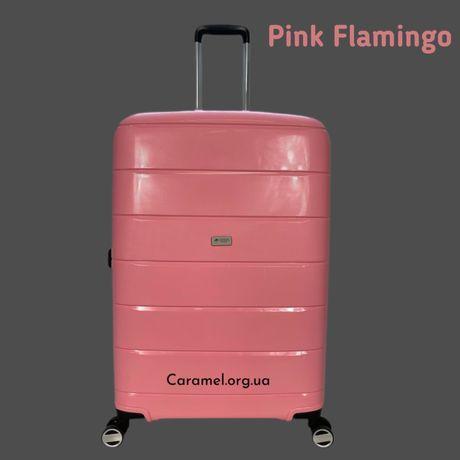 Чемодан валіза Франція Airtex 232 рожевий іламінго