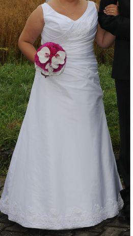 Suknia ślubna rozmiar 40 w cenie welon do kompletu