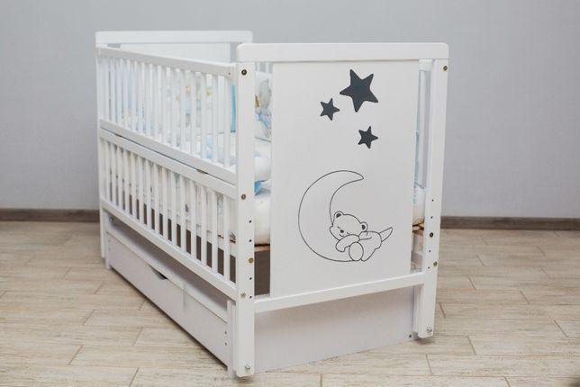 Дитяче букове ліжечко кроватка детская наложка 100%