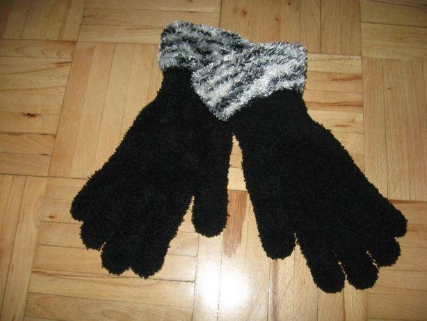 rękawiczki nowe czarne puchate Atmosphere