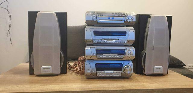 Wieża Technics CD DVD radio kasety