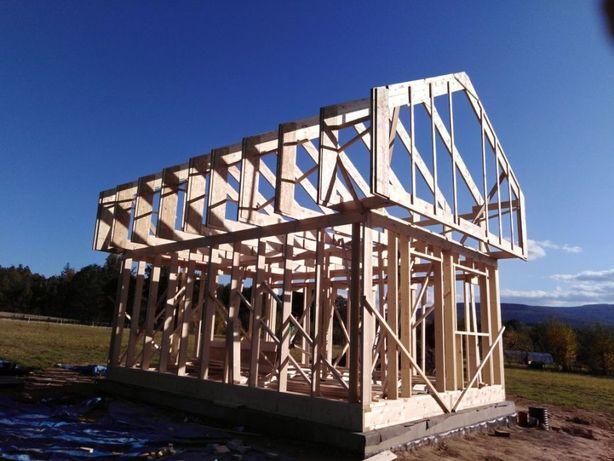 Domki, domy, drewniane całoroczne 35m2. Grzybek autorski projekt firmy
