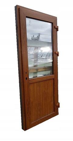 DRZWI Zewnętrzne PCV Sklepowe KACPRZAK 90x210