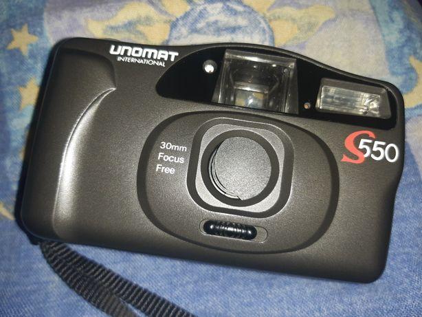 Retro aparat fotograficzny + skórzane etui + baterie