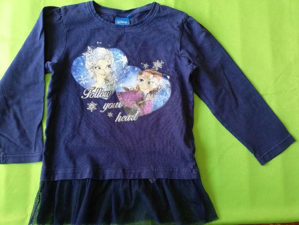 Bluzka dla dziewczynki rozmiar 122 Elza i Anna Disney