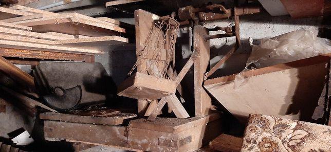 Waga dziesiętna drewniana zakłady tarczyńskie