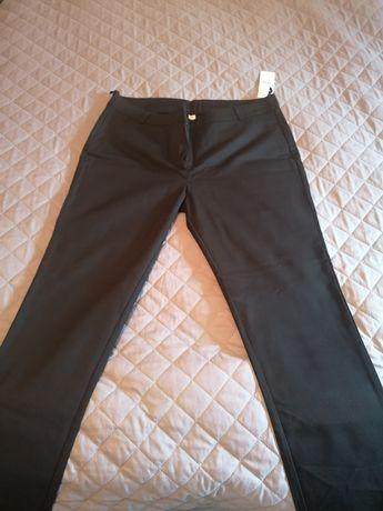 Czarne eleganckie spodnie 46