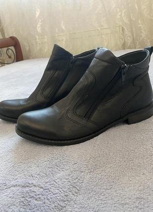 ботинки кожаные натуральная кожа новые шкіра шкіряні черевики низькие