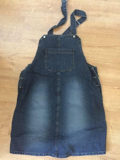 Spódnica ciążowa ogrodniczka jeans dżins