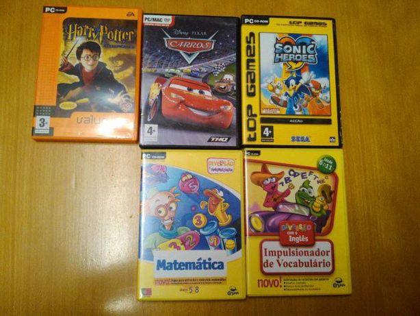Jogos computador - sonic, cars, matematica,ingles