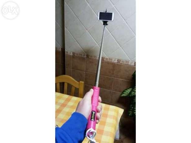 NOVO Selfie stick COM BOTÃO ZOOM cabo extensivel Monopod Pau monope